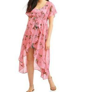 Dresses & Skirts - Mauve Floral Maxi 2Fer Dress- 2 pieces